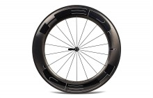 HED JET 9 BLACK CLINCHER FRONT WHEEL