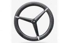 PRO TEXTREME CARBON 3-SPOKE TUBULAR FRONT WHEEL