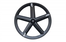 PRO CARBON 5-SPOKE TRACK TUBULAR FRONT WHEEL